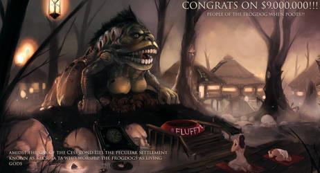 Kingdom Death Frogdog (congratz on 9 million) by Mothmandraws