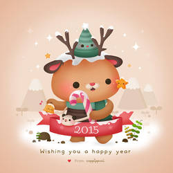 Happy New Year 2015 by Cappippuni