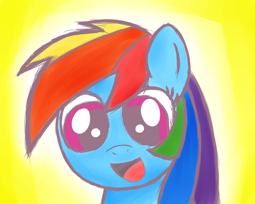 Rainbow Happy by HeavyMetalBronyYeah