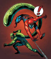 Spider-Man VS Scorpion by RyanLord