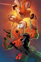 Deadpool VS Shatterstar by RyanLord
