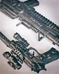 Prop Guns - M4 and Beretta 1 by RyanLord