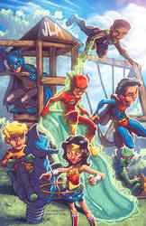 JLA Kids by Tim Lattie and Ryan Lord by RyanLord