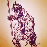 Gambit Inktober Day 7 by RyanLord