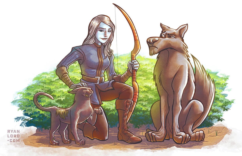 Pillars of Eternity Pale Elf Ranger by RyanLord
