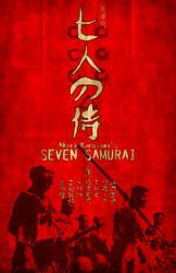 Seven Samurai Poster LARGE by tikiman-akuaku