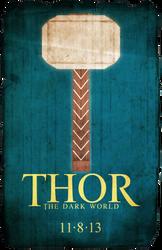 Thor Poster LARGE by tikiman-akuaku