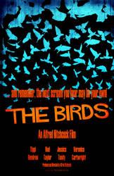 The Birds Poster LARGE by tikiman-akuaku
