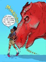 Moon Girl and Devil Dinosaur - Fan art by sliplol