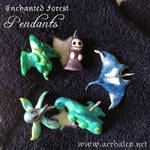 Enchanted Forest Pendants by Aerhalev