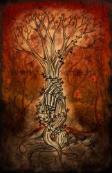 Autumn Death Tree by Aerhalev