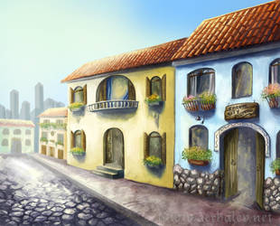 Old town facades concept by Aerhalev
