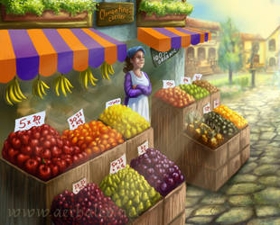 Fruit stall concept by Aerhalev