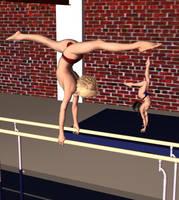 Handstand on Bars by EvanHath