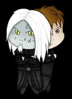 Chibi Todd with John by ksiazeAikka