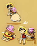 Luffy and Chopper by Zinfer