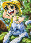 Luffy and Dalma by Zinfer