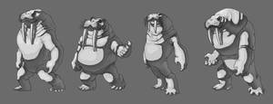 Walrusman body shapes by Zinfer