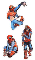 Spiderman sketches 2 by Zinfer