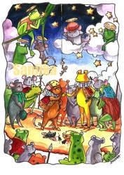 Mouse frog war by saniika