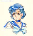 Sailor Mercury Vignette by saniika