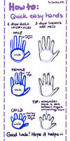 How to: Quick easy hands by saniika