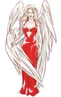 The red dress by saniika