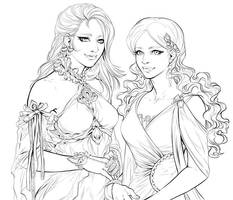 Jaslyn and Nattaloa by saniika