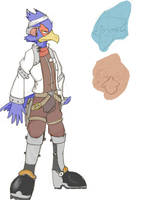 Falco Lombardi: Concept by star-fox-legacies