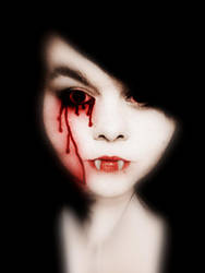 Vampires cry blood. by BellaPirate