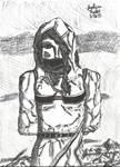 Ninja Chick Dude by JoshuaPrater