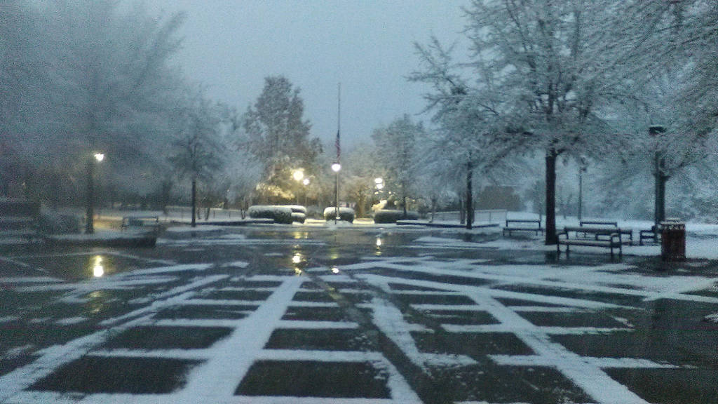 Hinds CC (Rankin Campus) Plaza in the snow by JoshuaPrater