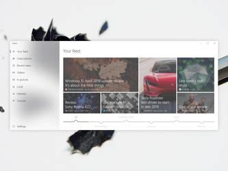 News app UI concept for Windows 10 (UWP) by Vegenta