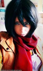 Mikasa Ackerman Cosplay Selfie~ by CharlightArt
