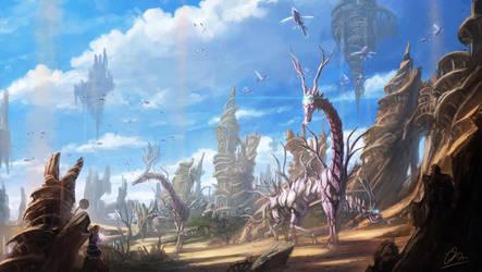 The rust city by makkou4