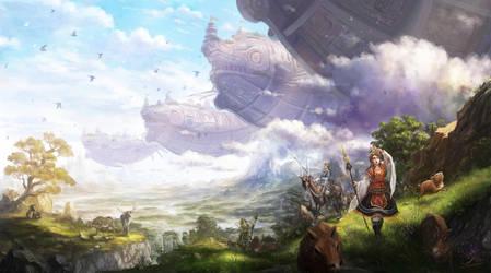 Beyond the horizon by makkou4