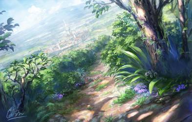 Summer road by makkou4