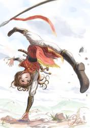 round kick by makkou4