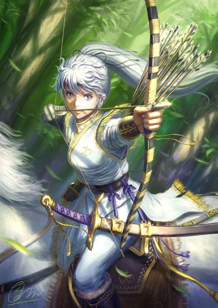 Equestrian Archery by makkou4