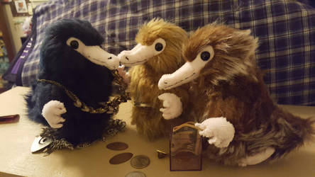 Niffler Plushies by Vulpes-Canis