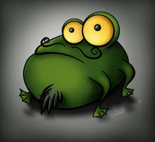 Mr. Le Frog by sea-weed