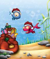 Fishy Christmas Card by sea-weed