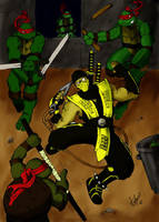 TMNT vs MK by Tortex13
