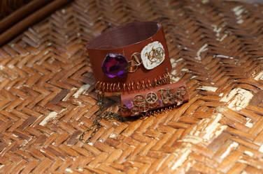 Steampunk Bracelet-Ring #2 by rebex1213
