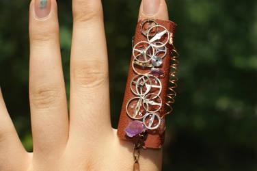 Steampunk Bracelet-Ring #3 by rebex1213