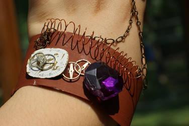 Steampunk Bracelet-Ring #4 by rebex1213