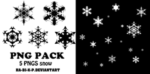 5 PNGS - By Ha-Bi-K-P - SNOW by Ha-Bi-K-P
