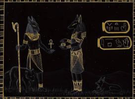 Anubis vs Wepwawet by swimmingRat