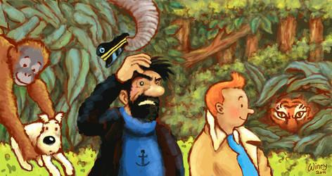 Tintin in Sumatra by winrymarini