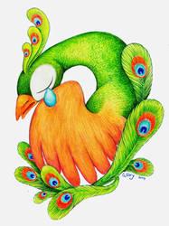 The Broken-hearted Peacock by winrymarini